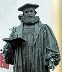 George Abbot's statue, Guildford, cropped